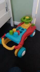 Baby walker that tranfroms into a car