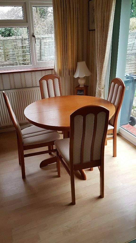 Extendable Dining Table And Four Chairs In Burgess Hill West Sus Gumtree