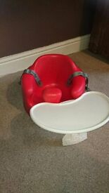 'Bumbo' baby seat with tray