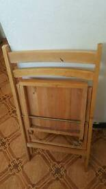 Folding oak chair