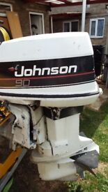 Johnson 90 outboard motor with hydro tilt and trim spares or repair