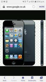 IPHONE 5 16GB LIKE NEW FACTORY UNLOCKED WITH RECEIPT AND WARRANTY