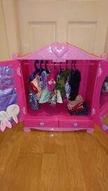 Build a bear pink wardrobe and clothes