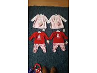 Baby girl outfits for twins BNWT - 0-3mths - dresses & pjs