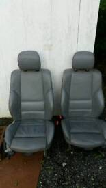 BMW M Sport grey leather front seats