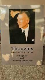 Very rare reggie kray book