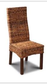 6 rattan dining chairs