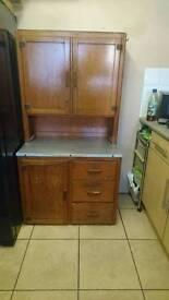 Antique 1930s 40s kitchen cupboard