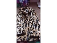 New faux fur coat age 11-12yrs