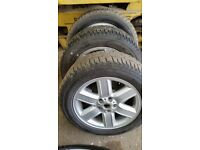 """Set of 4 Landrover discovery 3 alloy 19"""" wheels and tyres Range Rover"""