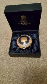 Collectable Royal Worcester Diamond Wedding pill box