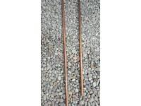 2.5cm diameter copper pipe