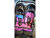 Double buggy joie like new