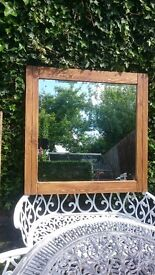 Wooden solid frame hand made mirror