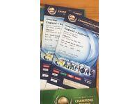 ICC Champions England v Australia £100+postage or swap for India vPak