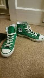 Adult green converse
