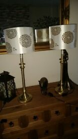 brass effect lamps