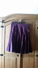 Reiss flared skirt size 10 with embroidered belt