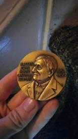 Solid bronze medal