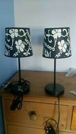 Table side lamps