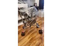 Lightweight childs buggy with raincover