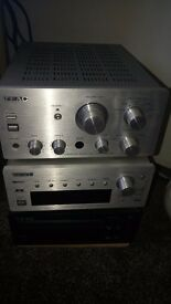Hi-fi unit - Teac - 3 tier unit, Stereo Tuner, Compact Disc Player, Integrated Stereo Amplifier.