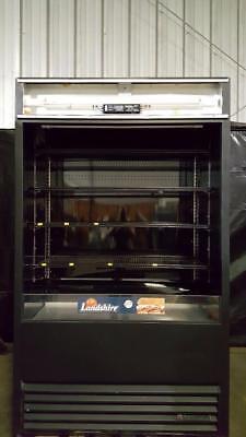 True Tac-48 Black Vertical Air Curtain Refrigerated Merchandiser