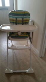 Babys high chair good clean condition