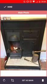Log burning stove cast iron