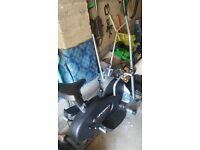 Exercise bike and cross trainer in one