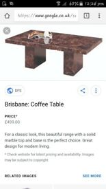 Second hand black marble coffe table