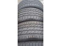Landsail part used tyres x 4