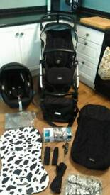 Mama's & Papa's Sola 2 Mtx travel system, pram, pushchair, car seat and accessories