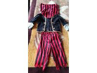 Pirate Ages 4 5 Boys Halloween Fancy Dress Childs Costume