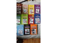 11 x diary of a wimpy kid books, excellent condition, collection only NE16