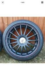 "18"" Team Dynamics Monza RS alloy wheels & Bridgestone Potenza tyres 5x114.3"