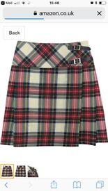 """Unworn Women's 20"""" Knee Length Kilt Skirt -size 16"""