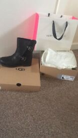 Ladies ugg leather boots size 5