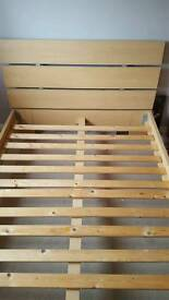 4ft x 6 Wooden slatted double bed