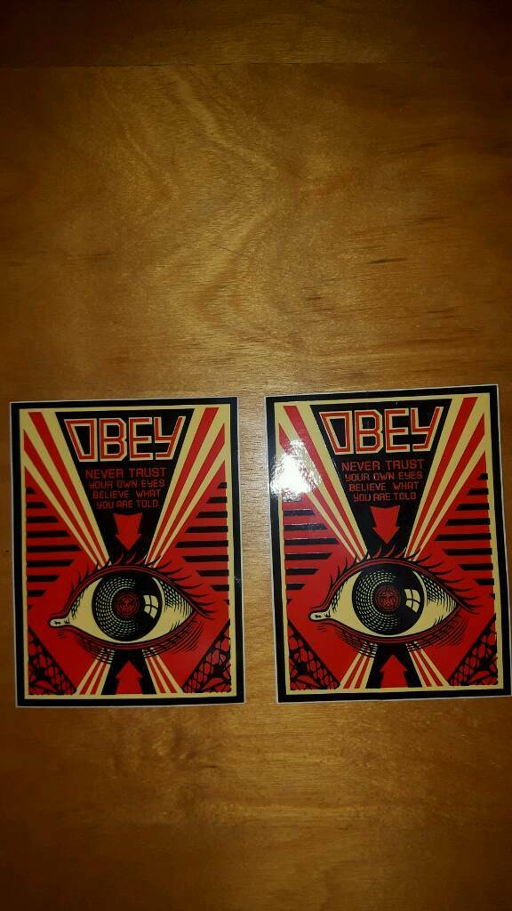 Obey 2 stickers