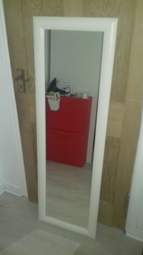WHITE FRAMED FULL LENGTH IKEA MIRROR