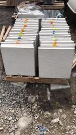 New 450 x450 light grey riven patio slabs £2.35 each