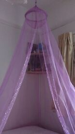 Gorgeous pink sequin girls canopy