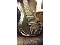 Harley Benton B-650 Black Progressive 6 string bass. Practically new.