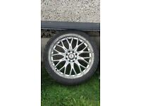 """17"""" BK racing 299 Alloy wheels and tyres multifit"""