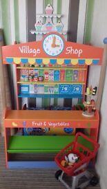 Bigjigs village grocery wooden playshop