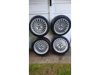 Genuine BMW STYLE 73 Z3 e36 e46 1 3 series Alloy Wheels 6753816 2 x nexen tyres - WOKING