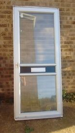 Aluminium external front door with frame, lock and keys