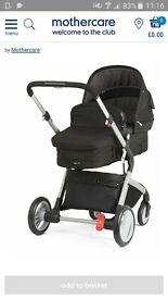 mothercare roam pushchair/pram and car seat