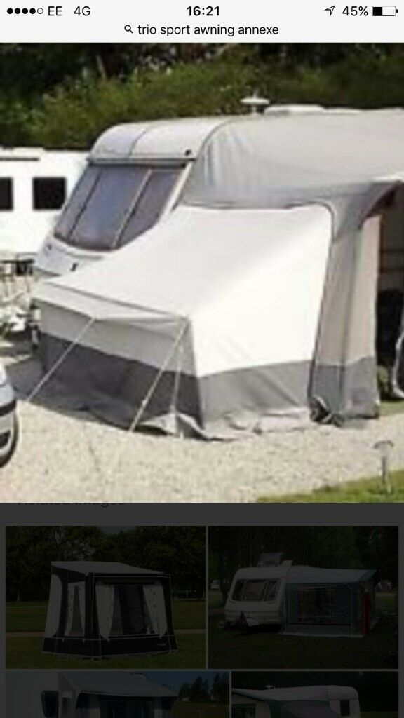 TRIO SPORT ANNEX THAT ZIPS ONTO A CARAVAN AWNING FITS A ...